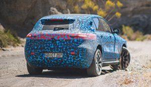 Mercedes Benz EQC ist in der spanischen Hitze unterwegs