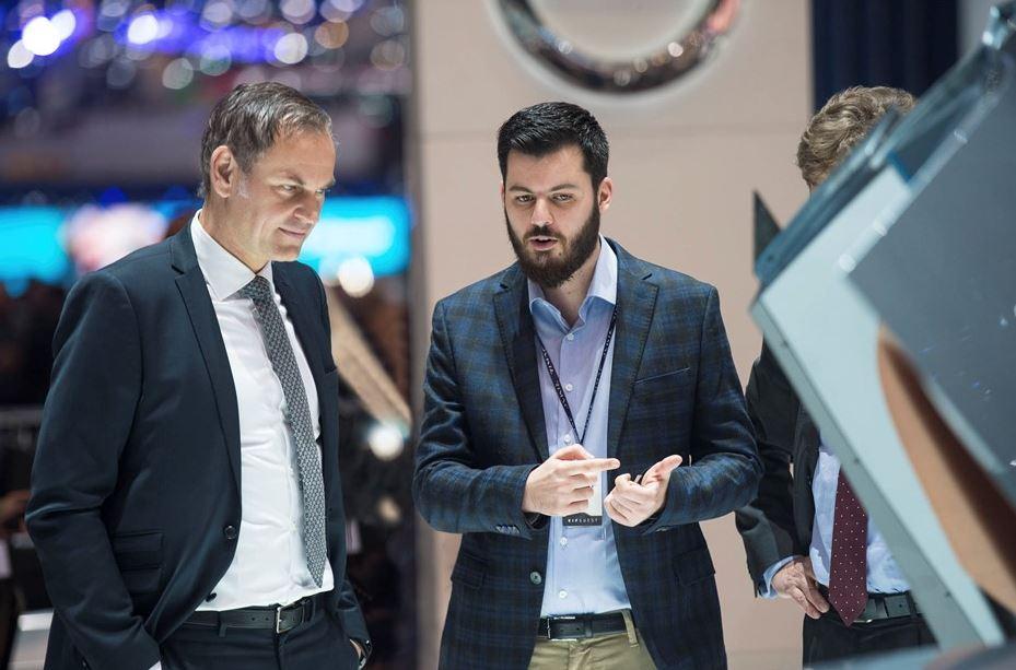 Porsche CEO Oliver Blume und Rimac Gründer Rimac