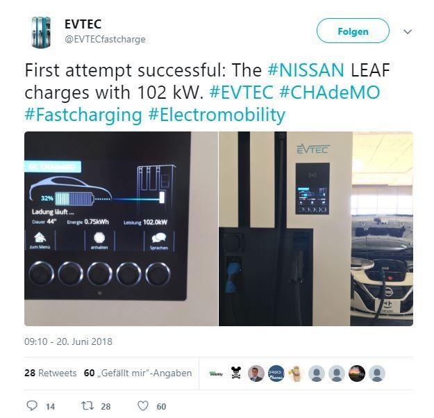 EVTEC Twitter Nissan Leaf