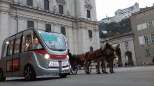 Autonome E-Busse ab sofort in Österreichs Hauptstadt unterwegs