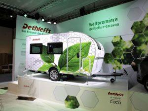 Weltpremiere von Dethleffs: Caravan mit Elektroantrieb