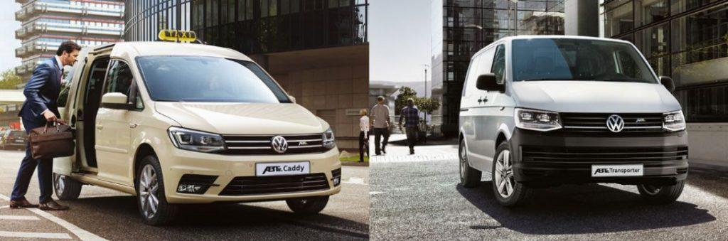 VW ABT e-Caddy und VW ABT e-Transporter E-Nutzfahrzeuge
