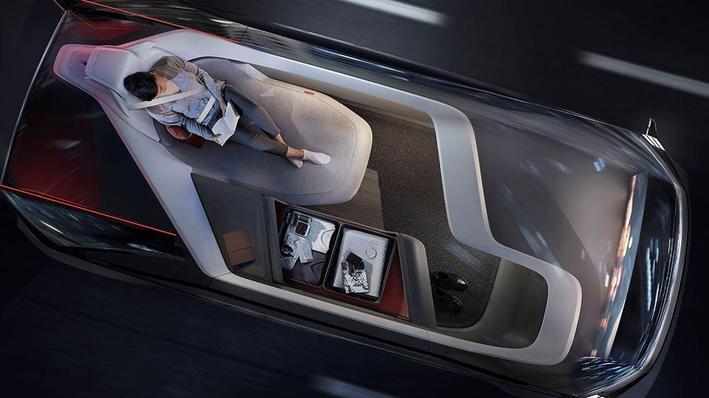 Volvo 360c: E-Shuttle als autonom fahrendes Wohnzimmer