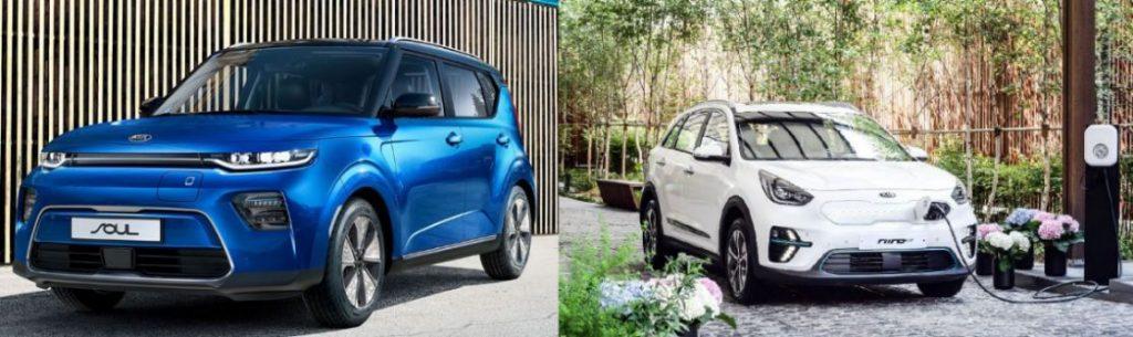 Kia Soul EV und Kia e-Niro Elektroautos