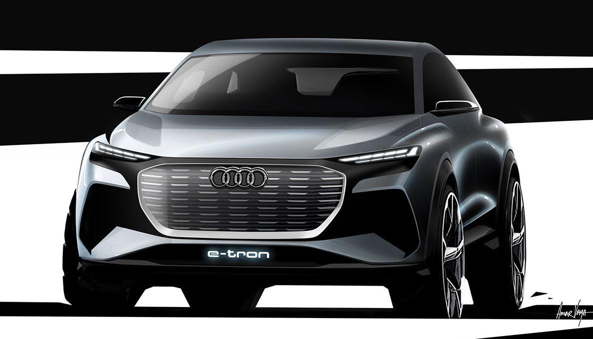 Audi teasert sein Kompakt-SUV Q4 e-tron an