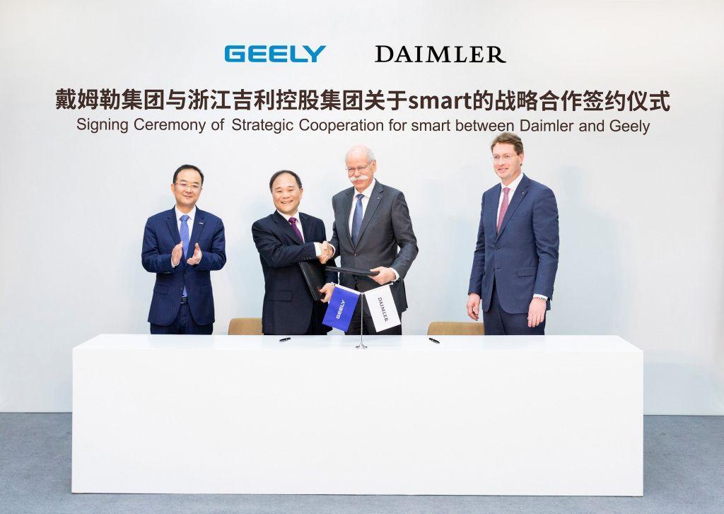 Joint Venture zwischen Daimler und Geely für künftige Smart E-Autos
