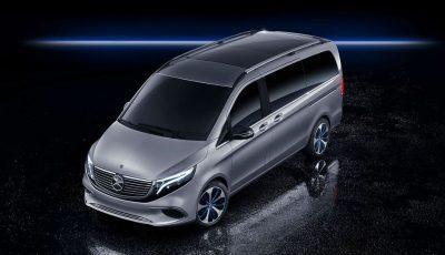 Mercedes Benz Concept EQV rollt mit Reichweite von 400 Kilometern vor