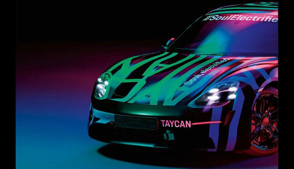 Porsche Taycan Teaserfoto Elektroauto 2019_1