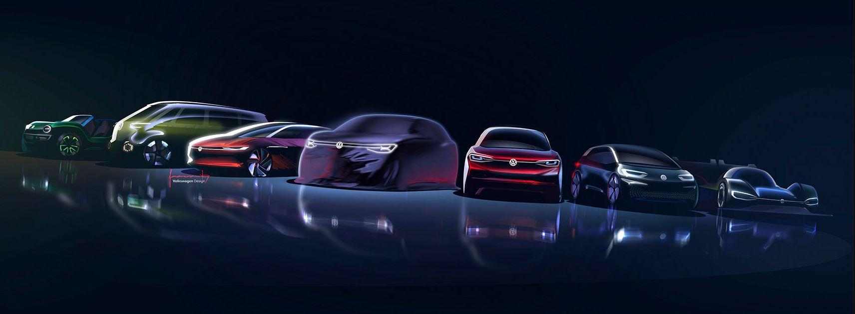 VW ID- Elektroauto Familie