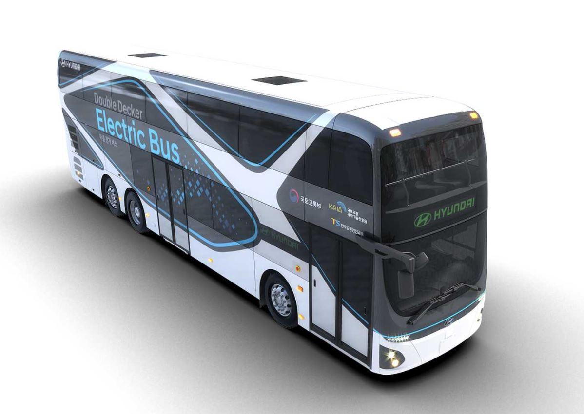 Hyundai zeigt einen rein elektrischen Doppeldecker-Bus