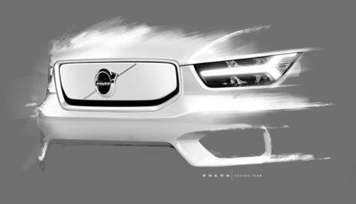 Erste Häppchen zum Volvo XC40 vor der Präsentation am 16. Oktober