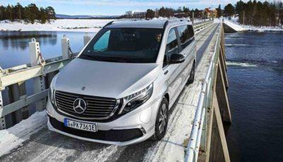 Eiskalte Generalprobe für den Mercedes EQV