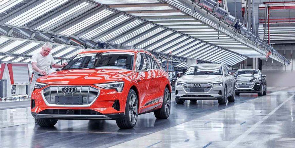 audi e-tron einblick zur produktion des elektroautos