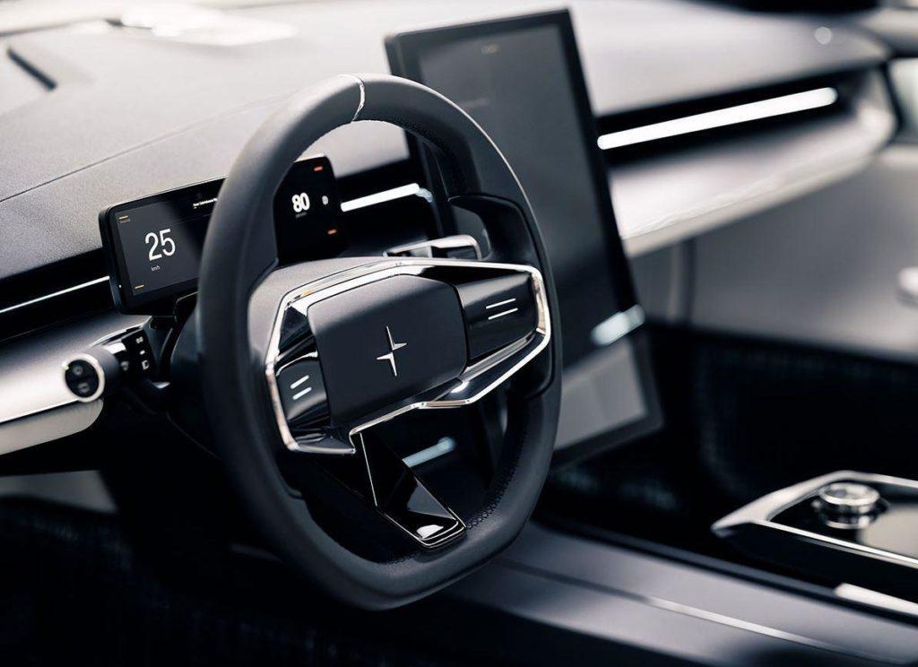 Innenraum des Polestar Precept Elektroautos