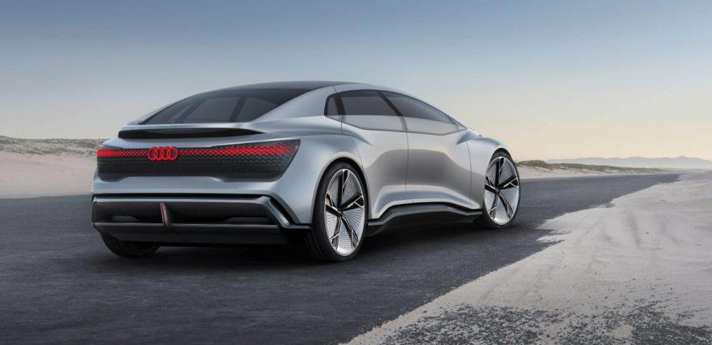 Konzeptfahrzeug Audi Aicon Ansicht von hinten