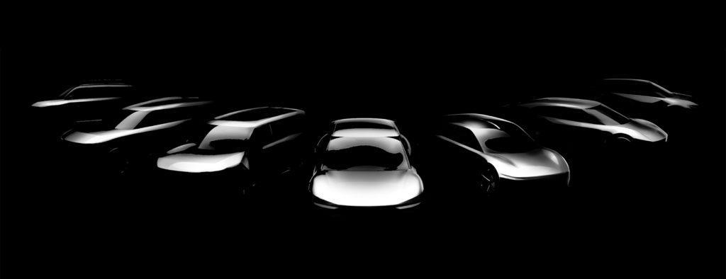 Umrisse der geplanten sieben Kia Elektroautos für die Zukunft