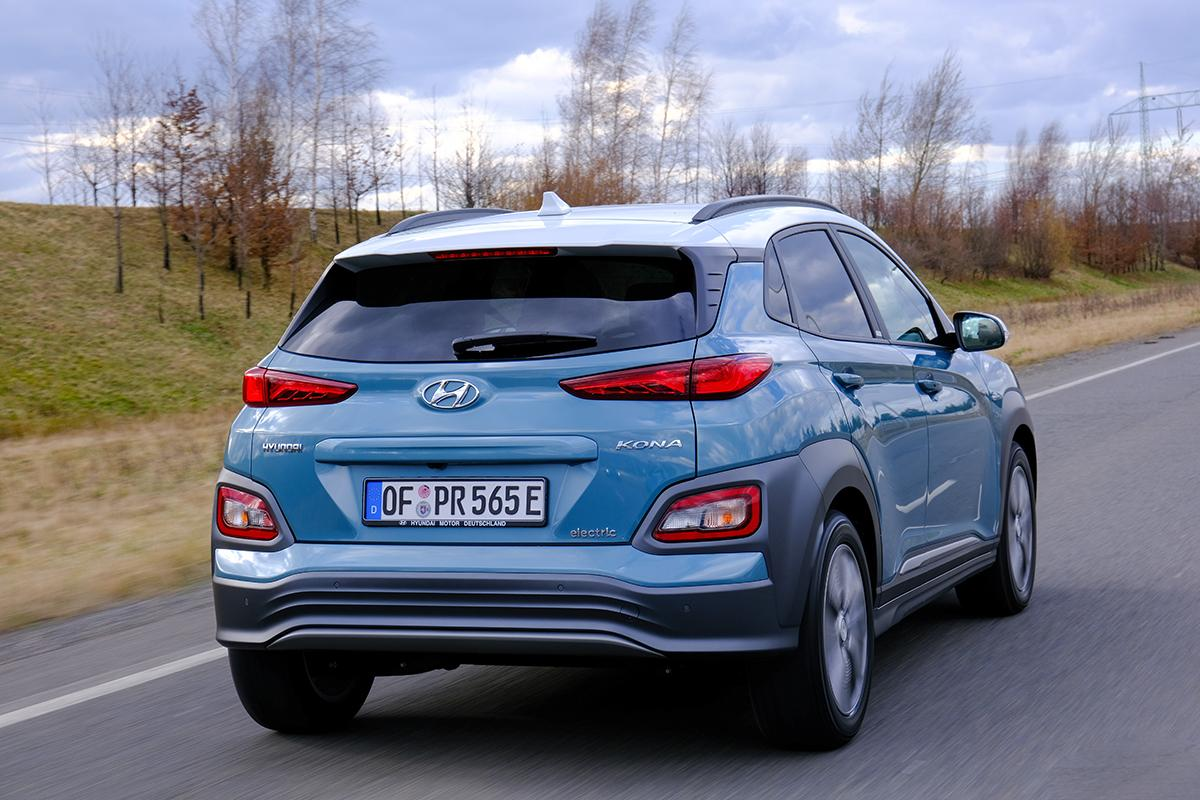 Hyundai Kona Elektro Heckansicht