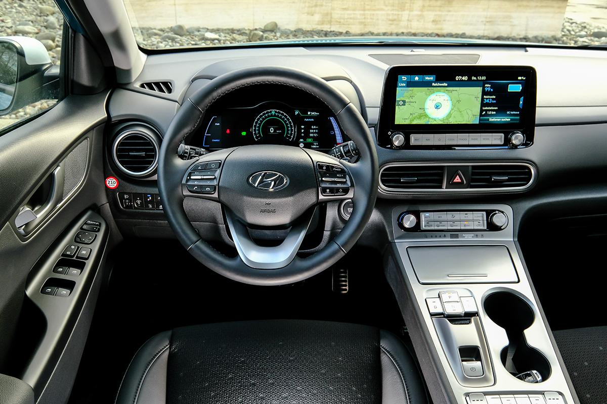 Hyundai Kona Elektro Innenraumansicht