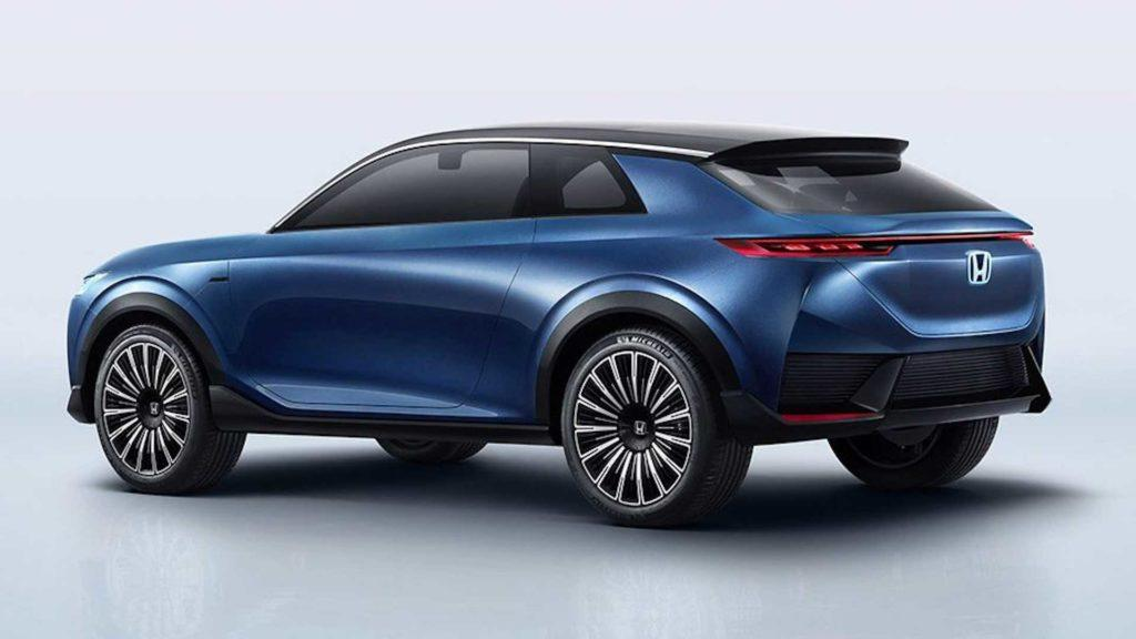 Neuer Honda SUV mit Elektroantrieb Ansicht von schräg hinten
