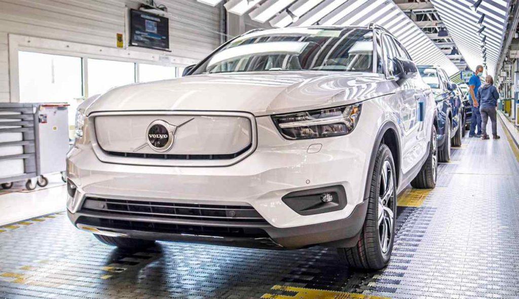 Blick in die Produktion des Volvo XC40 Recharge