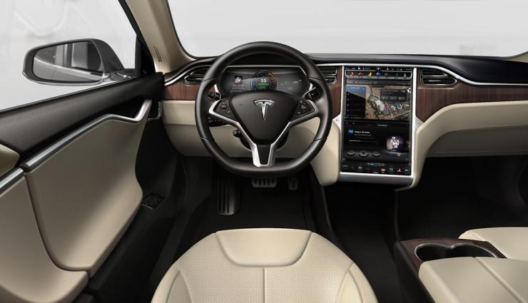 Tesla Model S Innenansicht