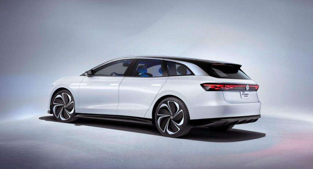 VW ID. Space Vizzion Konzeptfahrzeug seitliche Ansicht