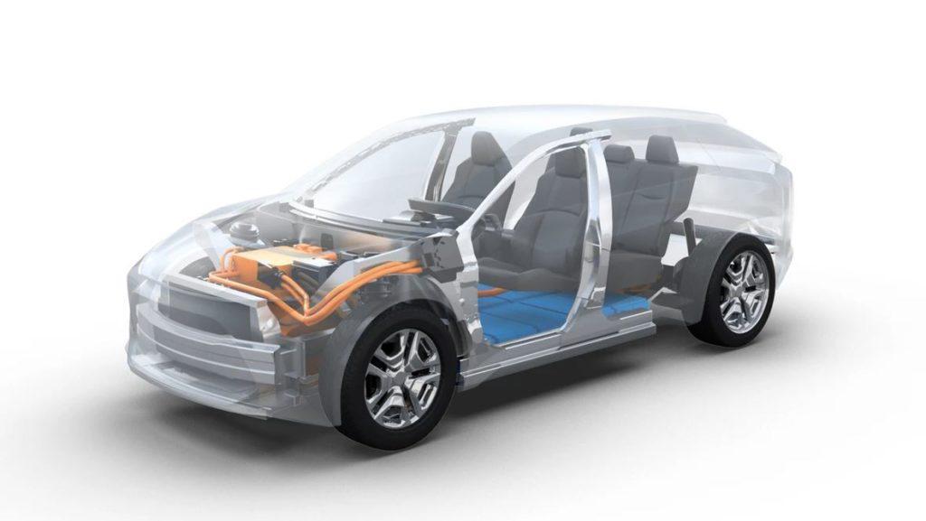 Ansicht Technologie erstes Elektroauto von Subaru
