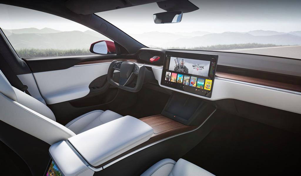 Innenraum des neuen Tesla S
