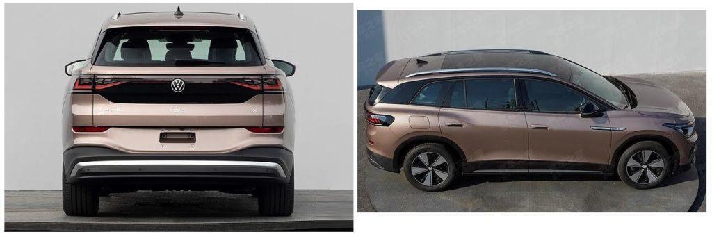 Rueckansicht und seitliche Ansicht von oben auf den VW ID.6
