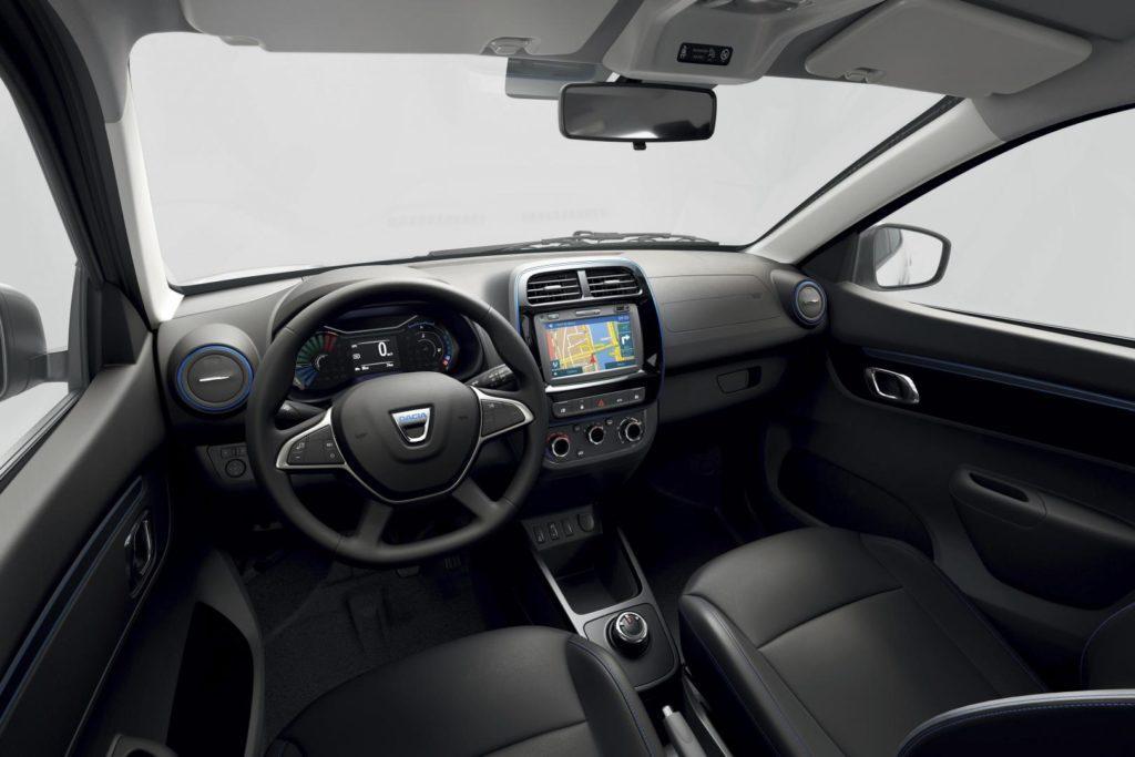Interieur des Elektroautos Dacia Spring
