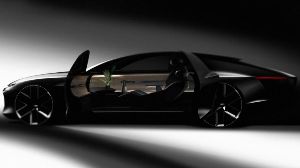 Designskizze des autonomen Elektroautos Audi Artemis