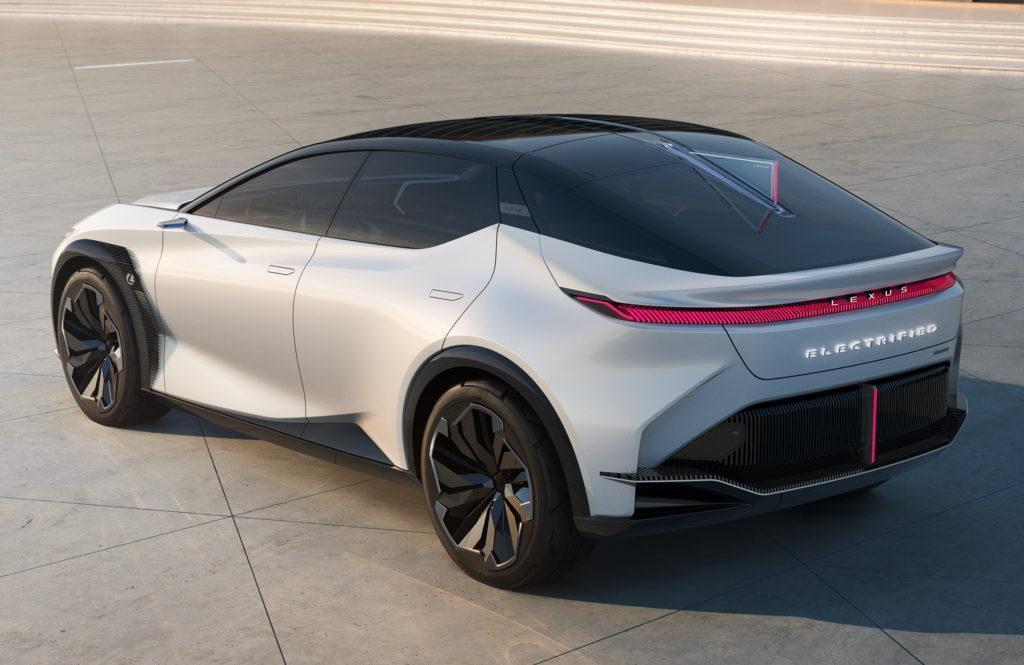 Hinteransicht der Konzeptstudie LF-Z Electrified von Lexus