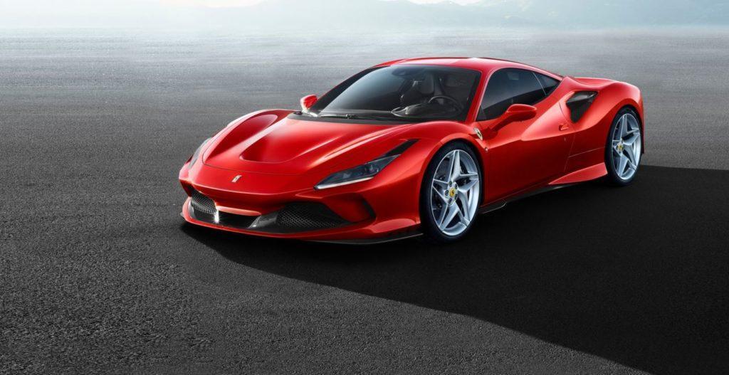 Symbolbild Ferrari F8 in Rot Ansicht seitlich vorn