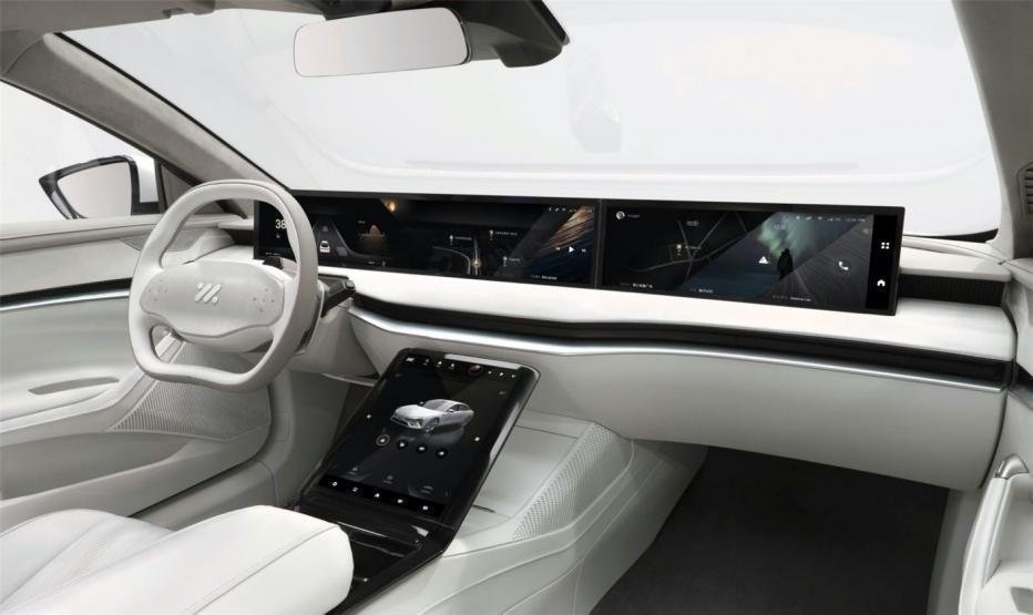 Innenraum des Elektroautos Zhiji L7