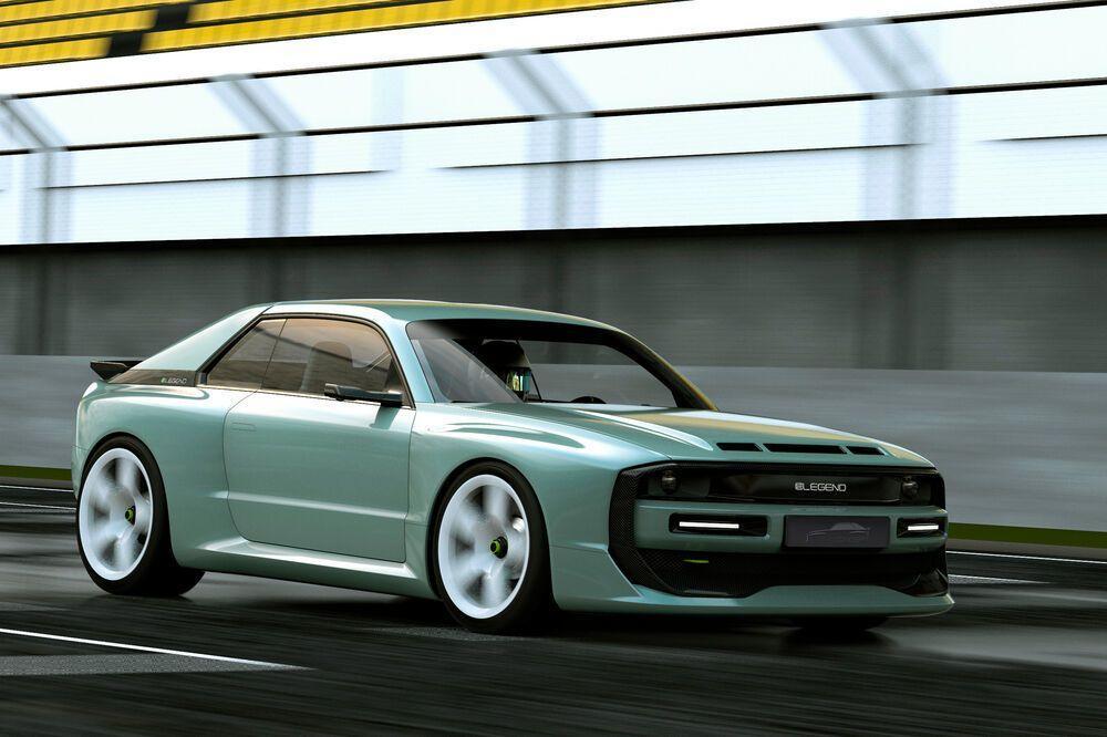 Elektrischer Sportwagen E-Legend EL1 in Fahrt