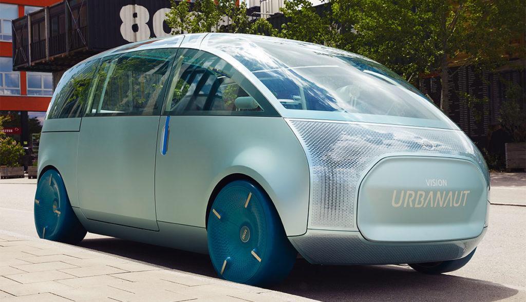 Exterieur des futuristischen Elektro-Vans MINI Vision Urbanaut