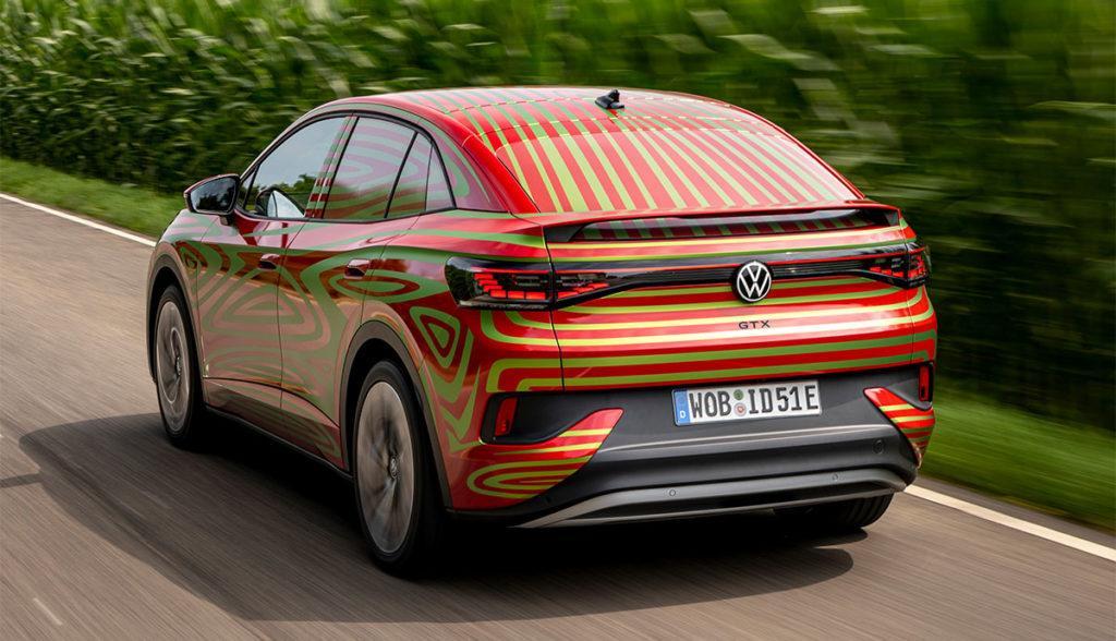 Heck des sportlichen Eleltroautos Volkswagen ID.5 GTX