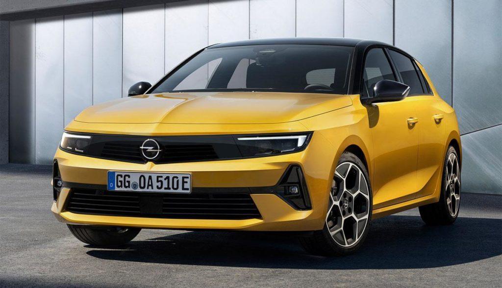 Neues Elektroauto Opel Astra L in gelb